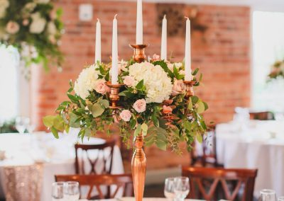copper candelabra hire