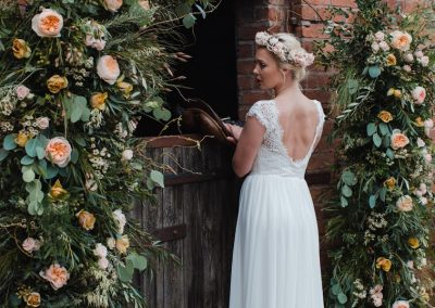 floral pillars, backdrop hire, wedding arch hire