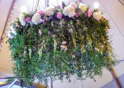 tipi wedding prop hire, chandelier hire