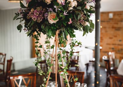 west mill tall centrepiece wedding prop hire
