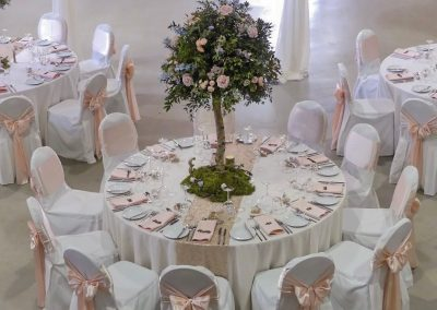 Luxury silver birch centrepieces, calke abbey
